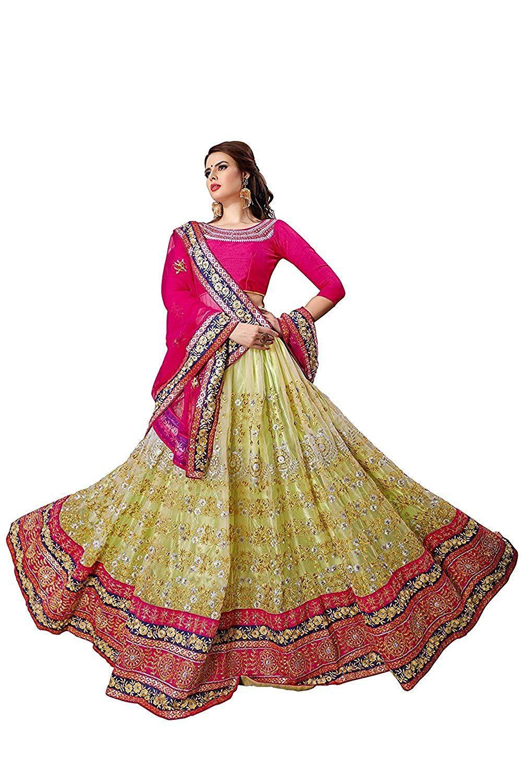 8074b915b Aastha Export Women s Designer Wedding Lehenga Choli  Amazon.in  Clothing    Accessories