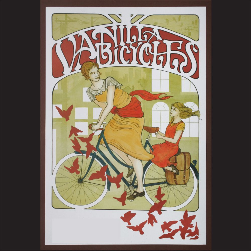 Vanilla bike does their nod to art nouveau bicycle ads | Bicycles ...