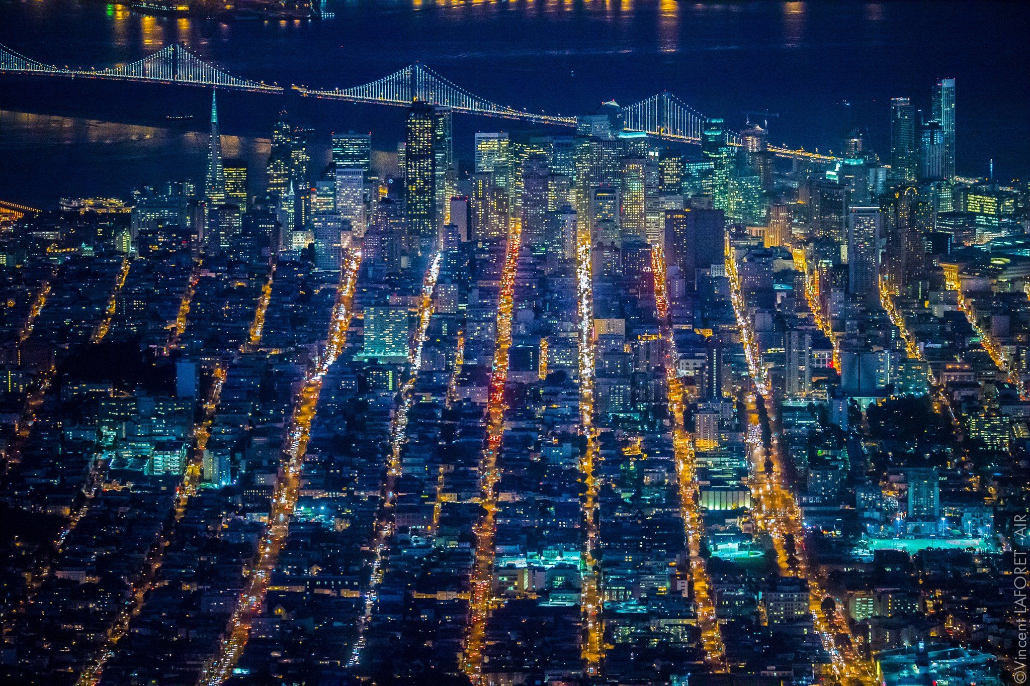 Aerial Photos Capture San Francisco's Nightlife from 7,200 Feet