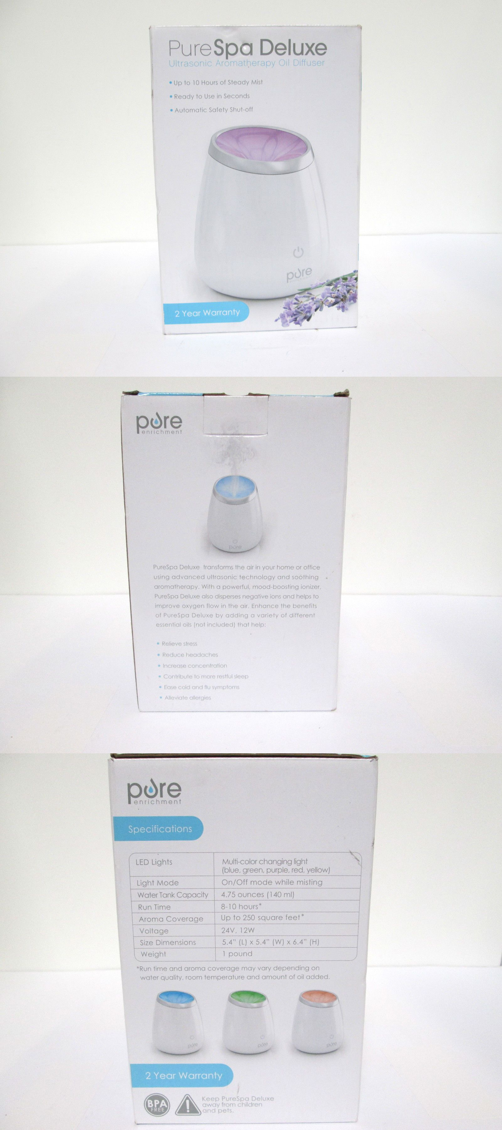 essential oils and diffusers 20553: pure enrichment purespa deluxe