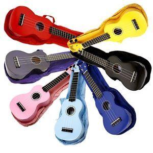 Left Handed Mahalo Soprano Ukulele Purple Black Red Pink Purple Blue Ebay Ukulele Sopranos Purple