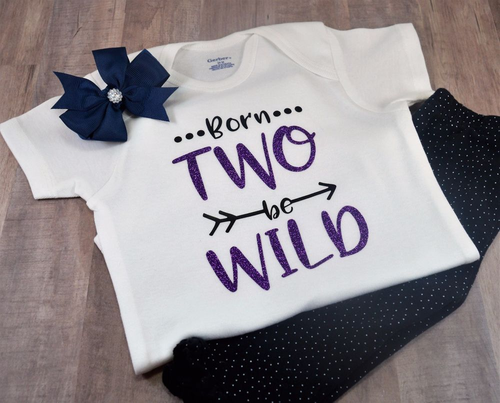 Born Two Be Wild Toddler Tee Girl Boy TShirt Second