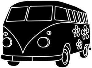 Van Clipart Image A Groovy Hippie Bus Or Van With Flower Power
