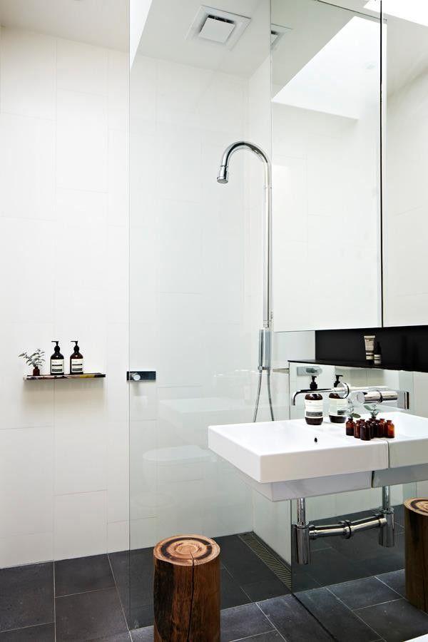 A Glamorous Bachelor Pad In Australia Small Space Edition Remodelista Minimalist Bathroom Design Bathroom Inspiration Bathroom Design