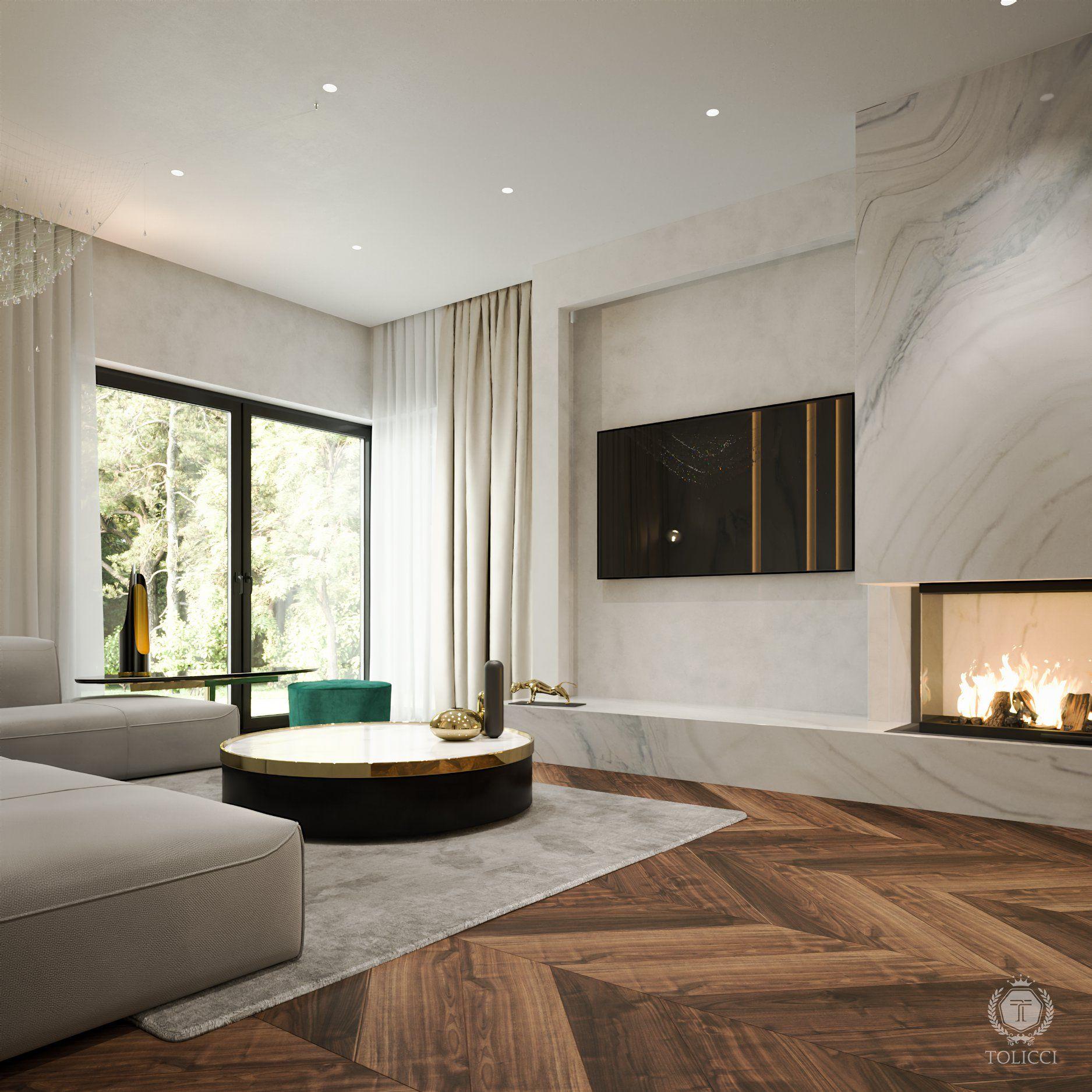 Tolicci, Luxury Modern Living Room, Italian Design