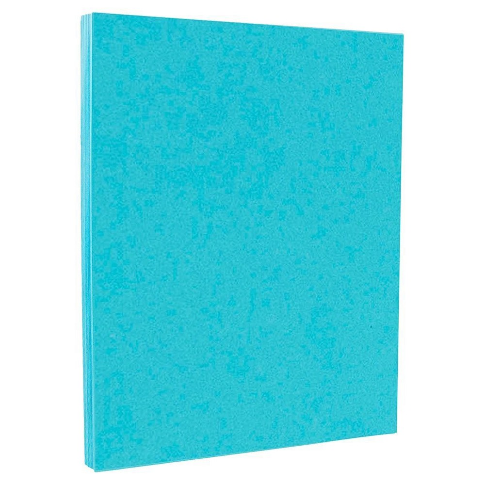 Jam Paper Brite Hue 65lb Cardstock 8 5 X 11 50pk Sea Blue Jam Paper Card Stock Letter Paper