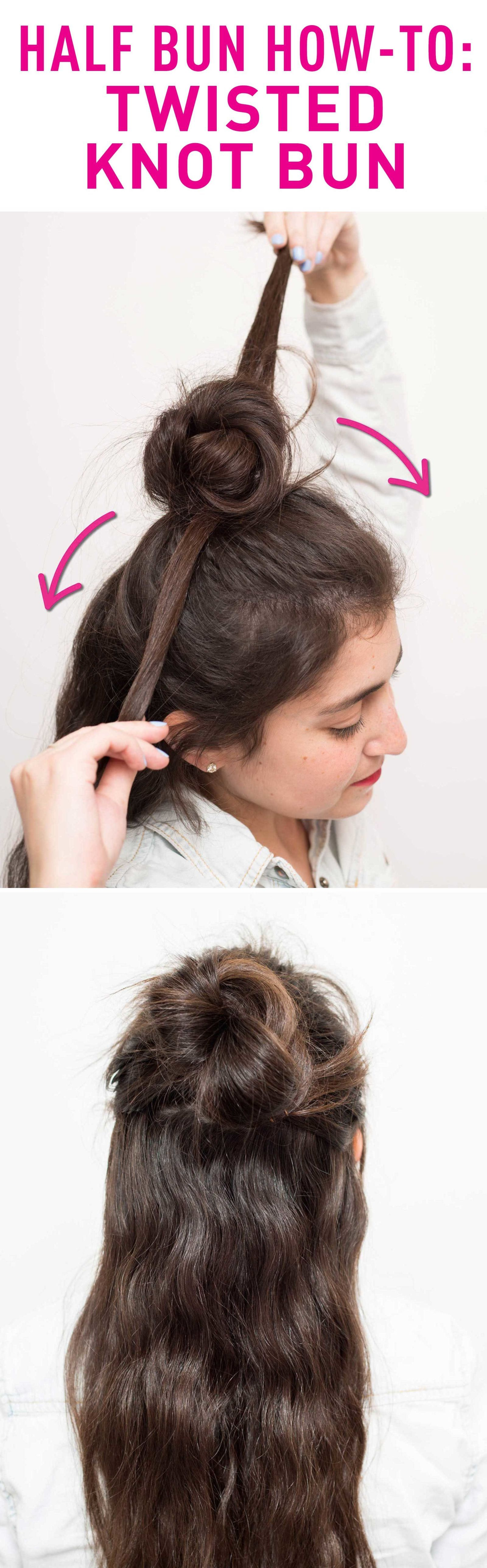 Put Off Wash Day A Little Longer With These 16 Half Up Bun Hairstyles Half Bun Hairstyles Hair Styles Bun Hairstyles