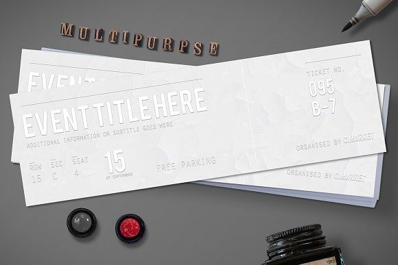 White Dream Event Ticket @creativework247 Wedding Invitations - How To Design A Ticket For An Event