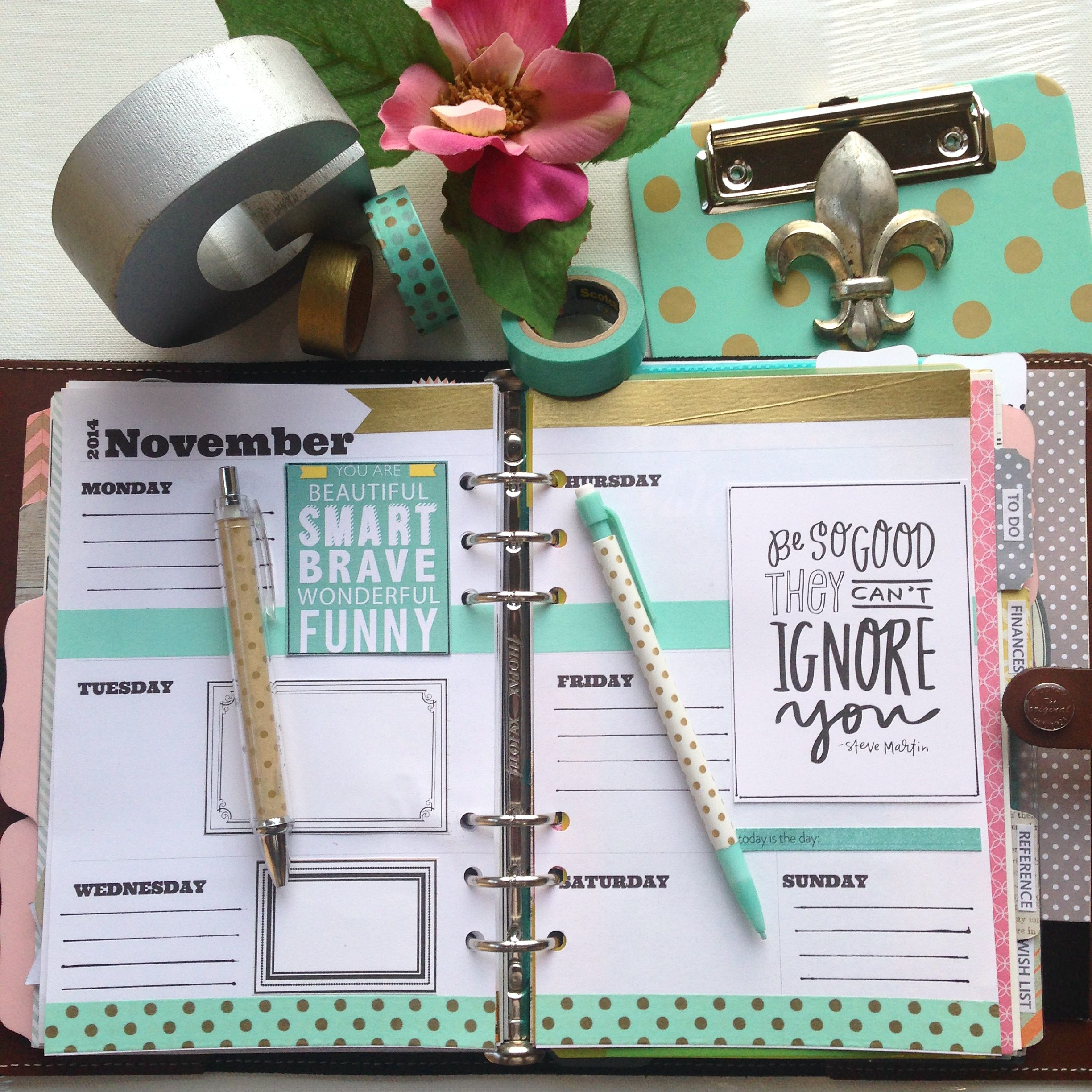Filofax design pages // Craft Room Secrets