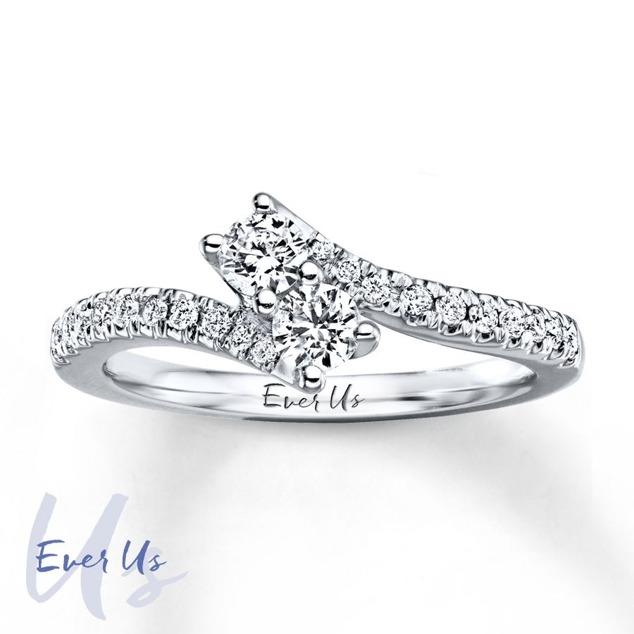 This Lovely Two Stone Diamond Ring Is From The Ever Us Collection