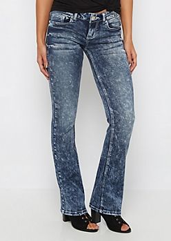 Vintage Washed Low Rise Boot Jean