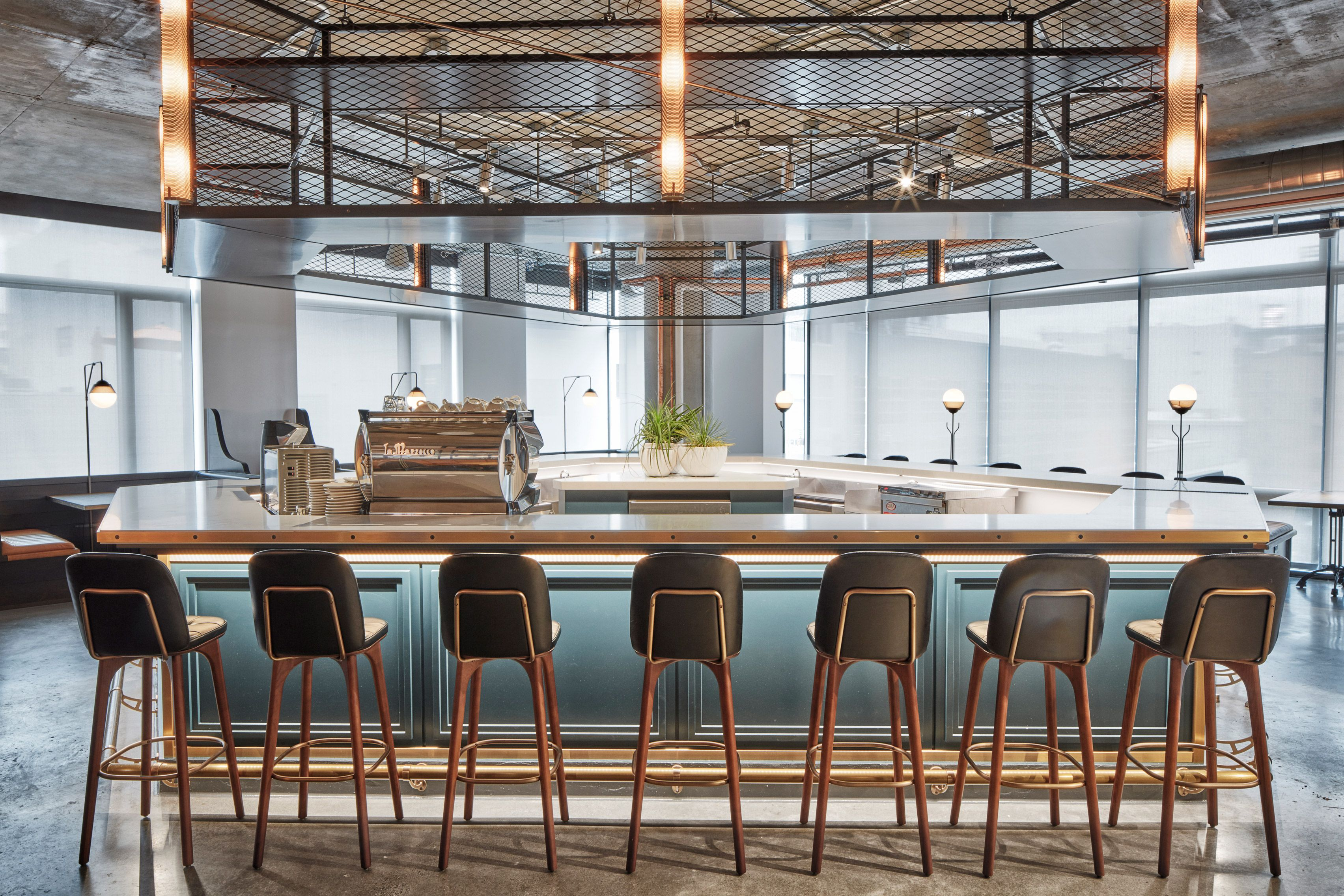 dropbox opens industrial-style cafeteria at california