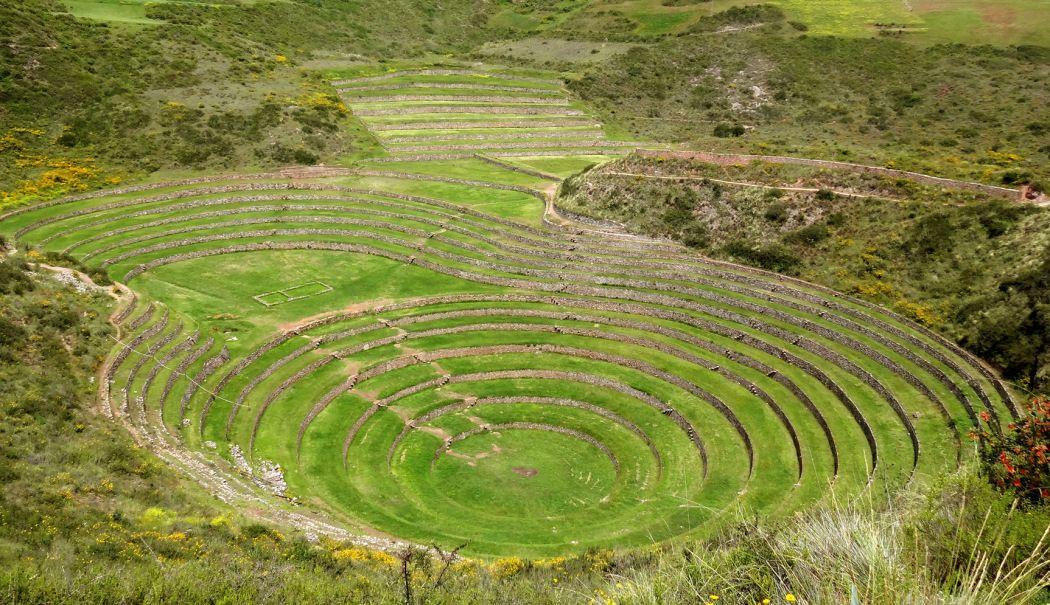 Terrazas De Cultivo De Moray Perú Mundo Egipto Y Terrazas