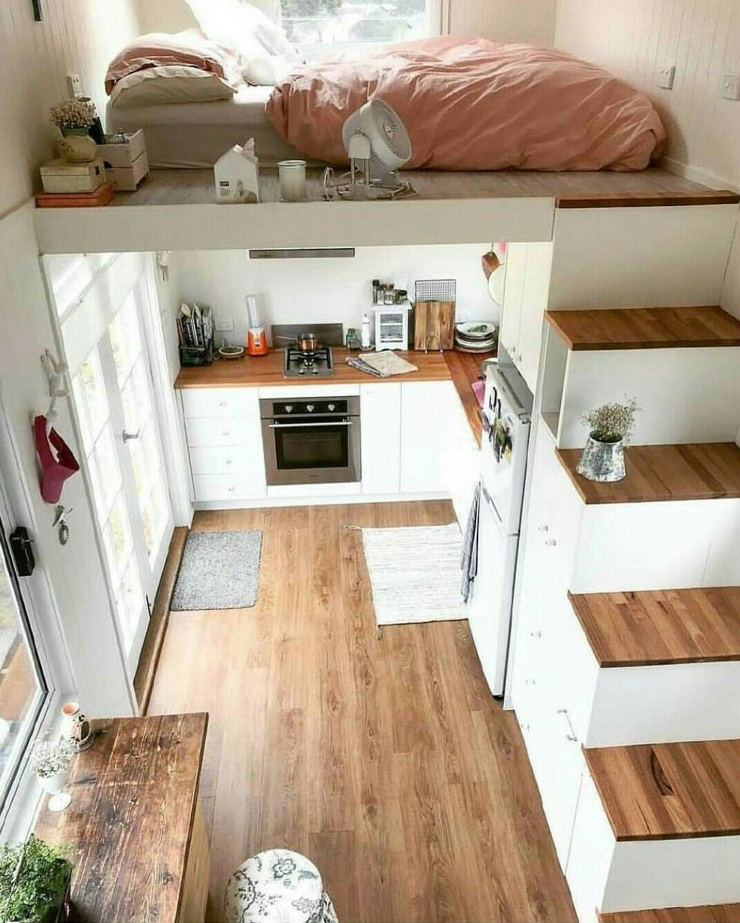 best tiny house interior yet tiny house pins best house interior Loft up top, bedroom in front. Tiny house decor!