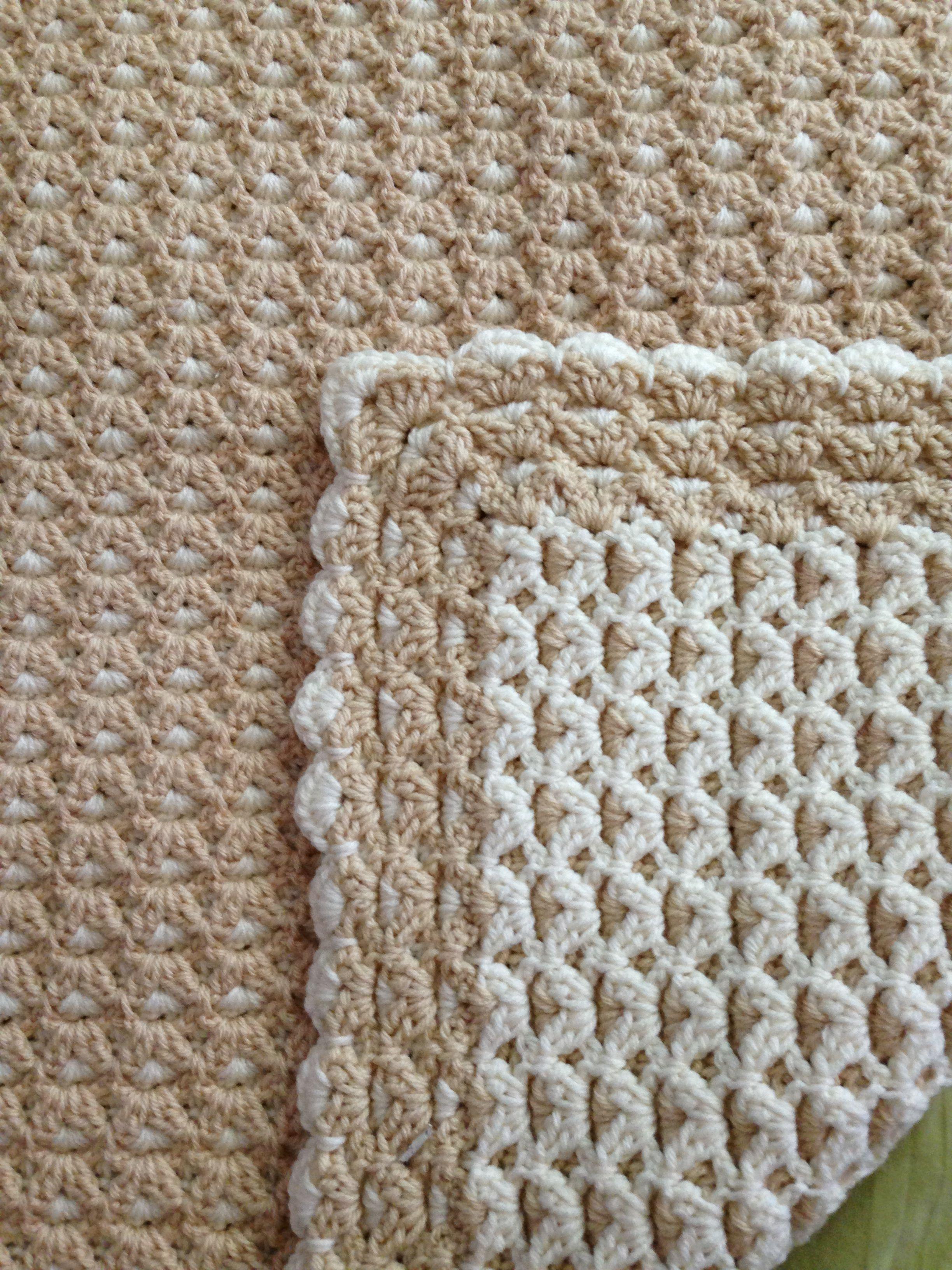 Interlocking Double Sided Crochet Baby Blanket Bebek