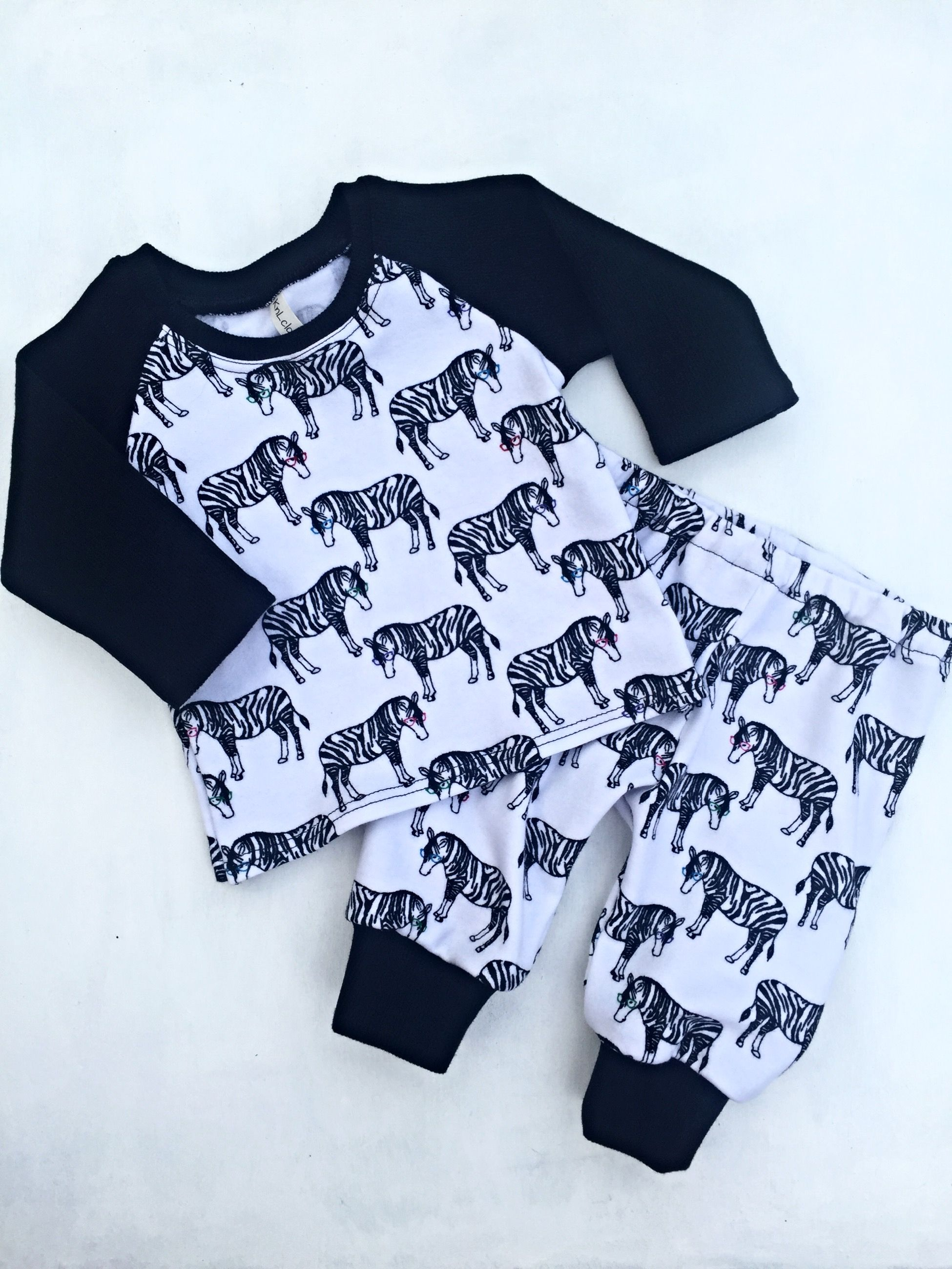 Zebra baby outfit raglan baby shirt toddler outfit cute baby clothes