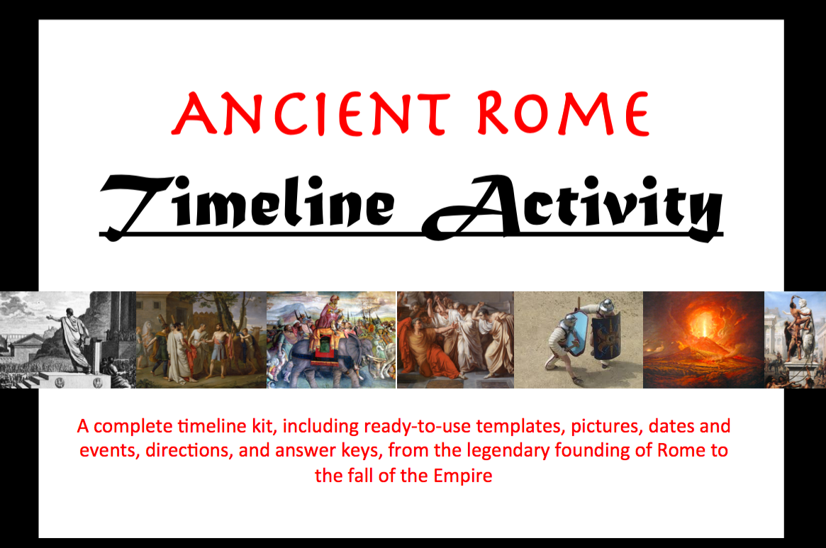 Ancient Rome Illustrated Timeline Activity