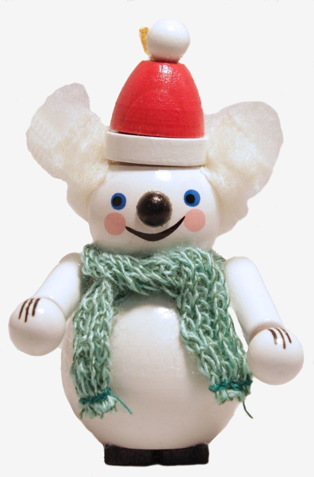 Steinbach Ice Polar Bear with Hat and Scarf German Wooden Christmas Ornament