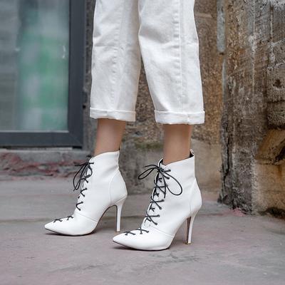 Grube Buty Na Obcasie Nowe Buty Damskie Moda Cekiny Oraz Aksamitne Szpiczaste Buty Martin Buty Damski Lace Up High Heels High Heel Boots Ankle Boot Shoes Women