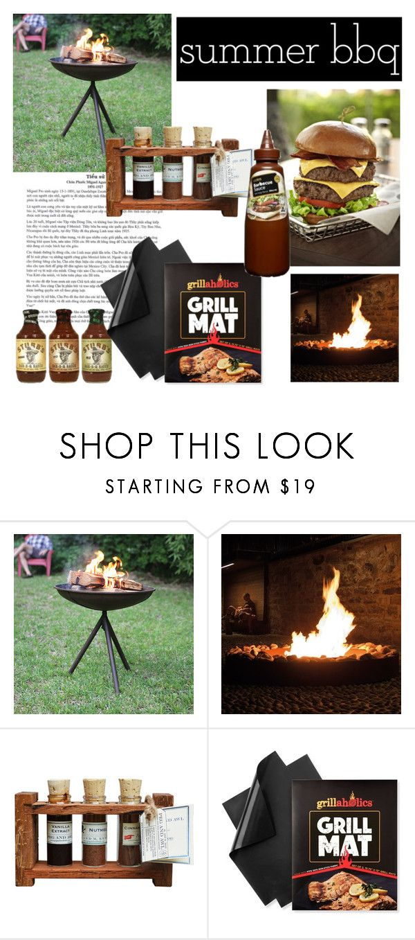 """""""BBQ dAY"""" by claudiaelezi ❤ liked on Polyvore featuring interior, interiors, interior design, home, home decor, interior decorating, Dot & Bo and summerbbq"""