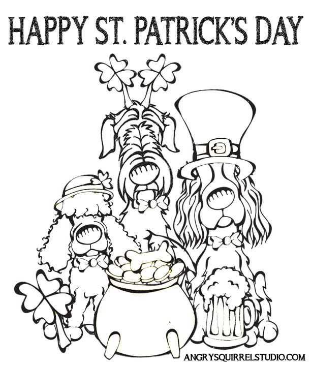 Happy St Patrick S Day Please Enjoy This Free Coloring Page To