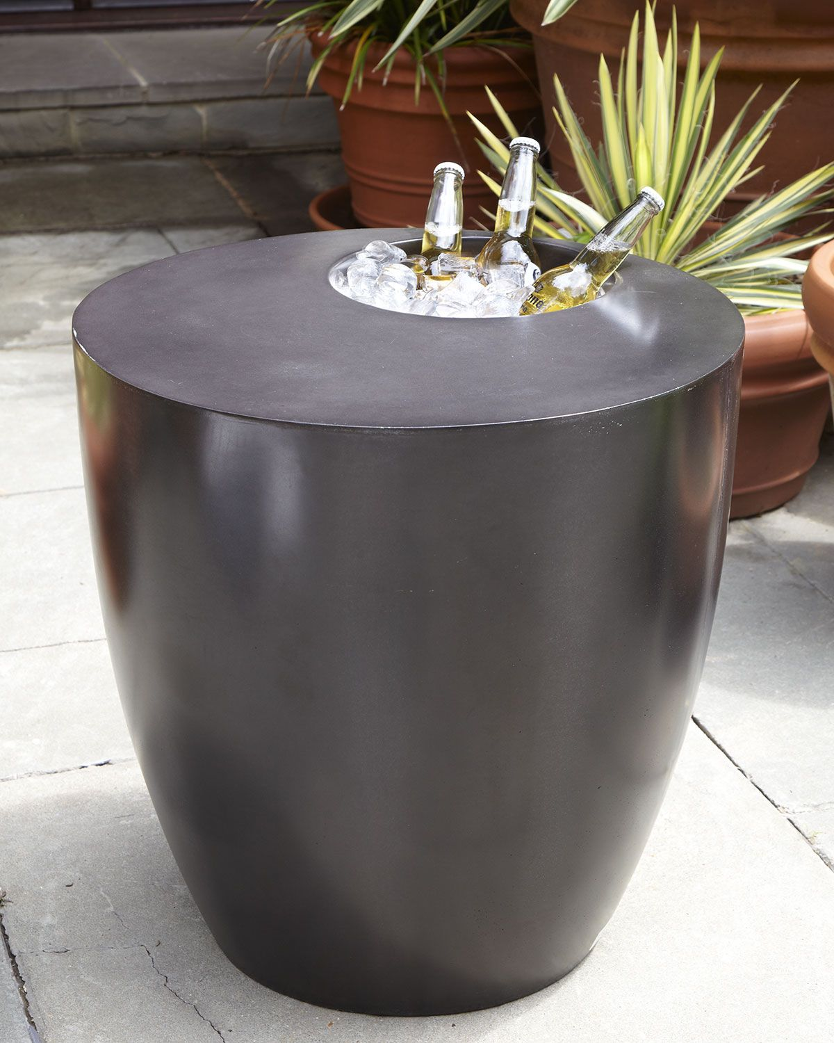 The Phillips Collection Beverage Cooler Side Table | cement ...