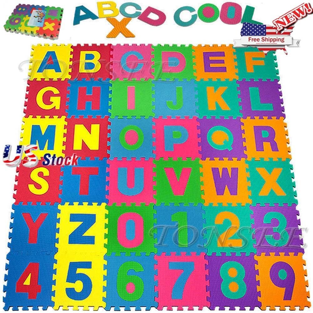36pcs Baby Kids Room Alphabet Number Foam Crawl Playing Floor Mat