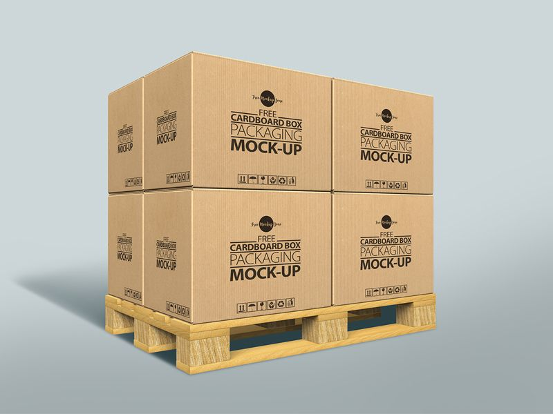 Download Free Cardboard Box Packaging Mock Up Psd Packaging Mockup Box Mockup Free Packaging Mockup