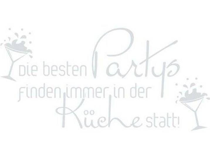Photo of Wandtattoo Die besten Partys, Glas
