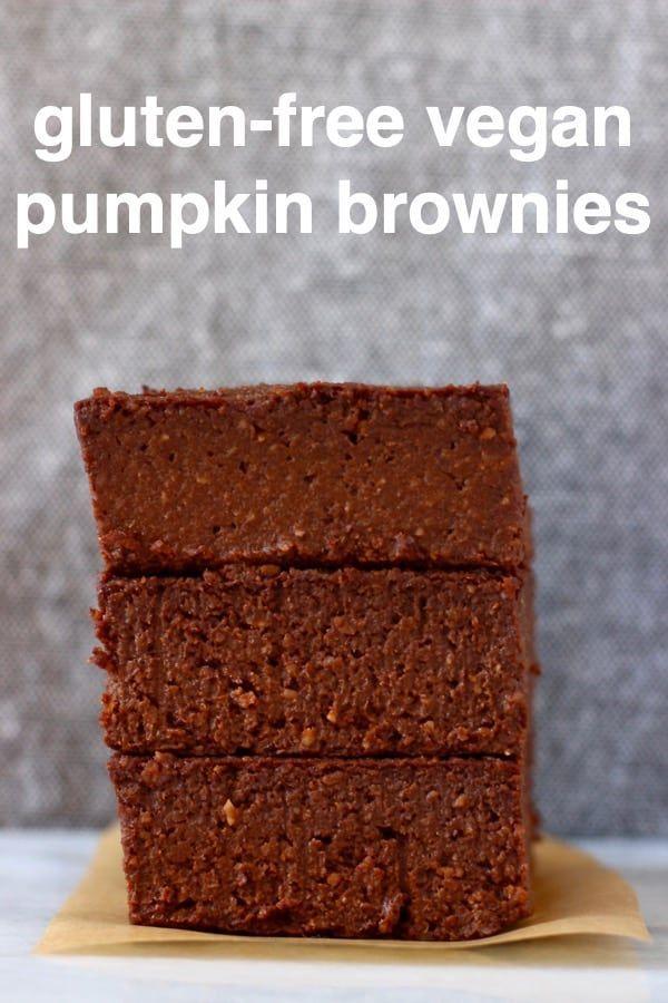 Vegan Pumpkin Brownies (Gluten-Free) These Vegan Pumpkin Brownies are rich and fudgy, naturally swe