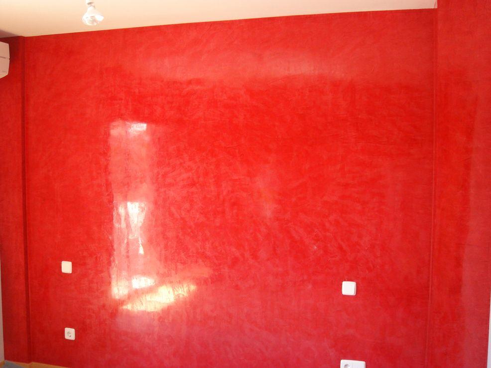 Alta decoraci n pared con estuco wall pinterest - Pinturas estuco veneciano ...