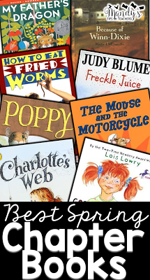 Great read aloud suggestions perfect for spring and the end of the school year!