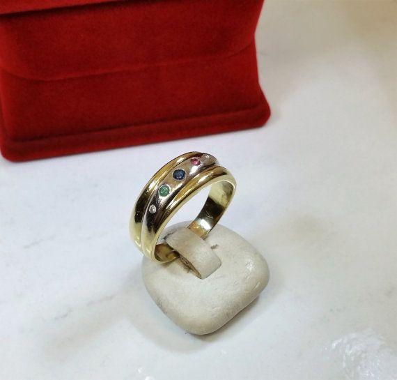 Ring gold 585 saphir