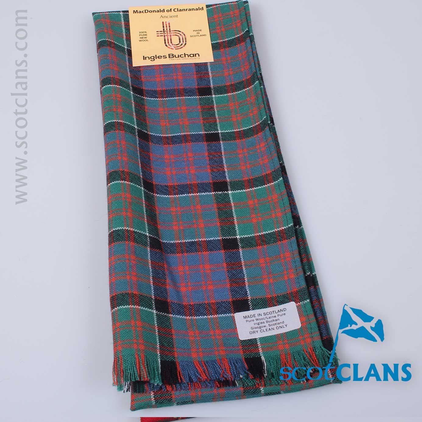 Mens Clan Tie Made in Scotland MacDonald of Clanranald Ancient Tartan