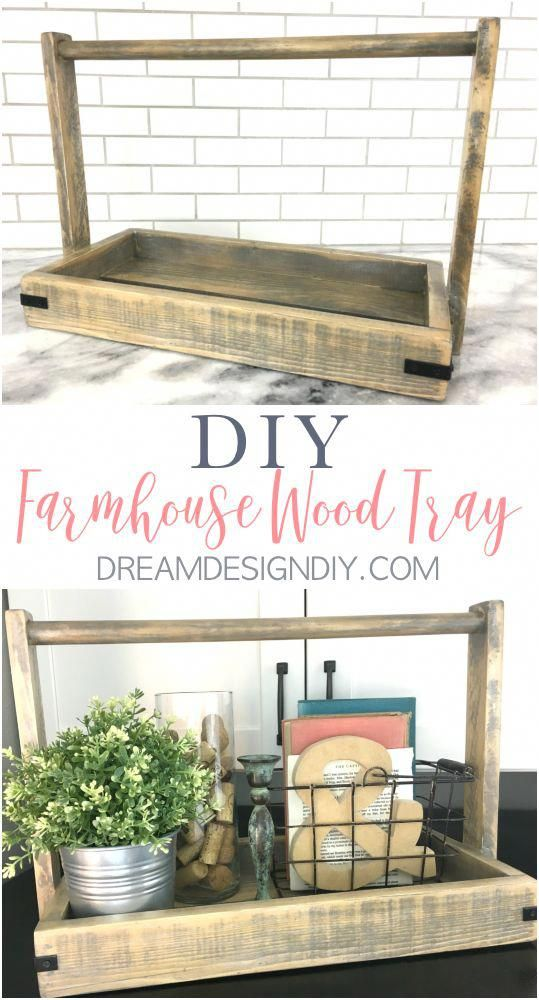 build a diy rustic farmhouse wood tray out of scrap wood this wood rh pinterest com