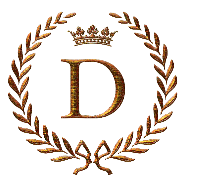 Napoleon Initial Letter D Monogram Lettering Alphabet Embroidery Letters Letter D