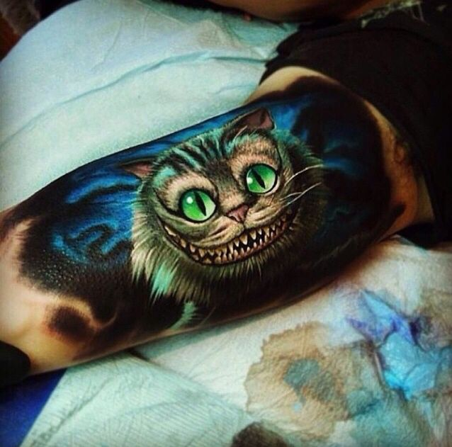 alice au pays des merveilles /chats | tattoo | tattoos, cheshire cat