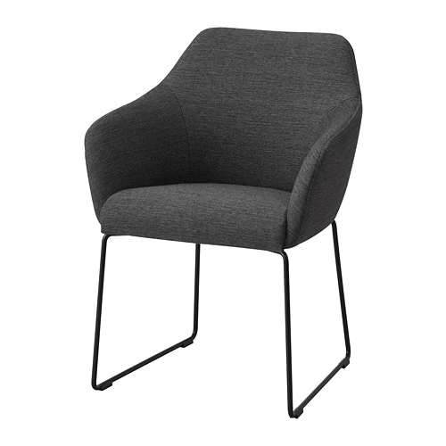 Tossberg Chair Metal Black Gray Most Comfortable Office Ikea
