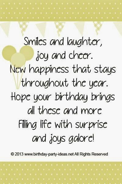 Smiles And Laughter Birthday Verses For Cards Birthday Quotes