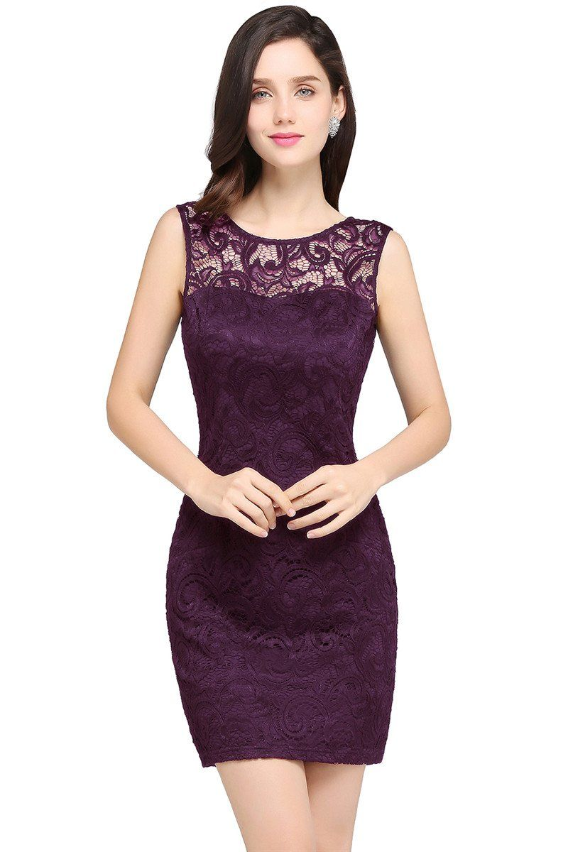 Aa chicloth sheath scoop black lace cheap homecoming dresses