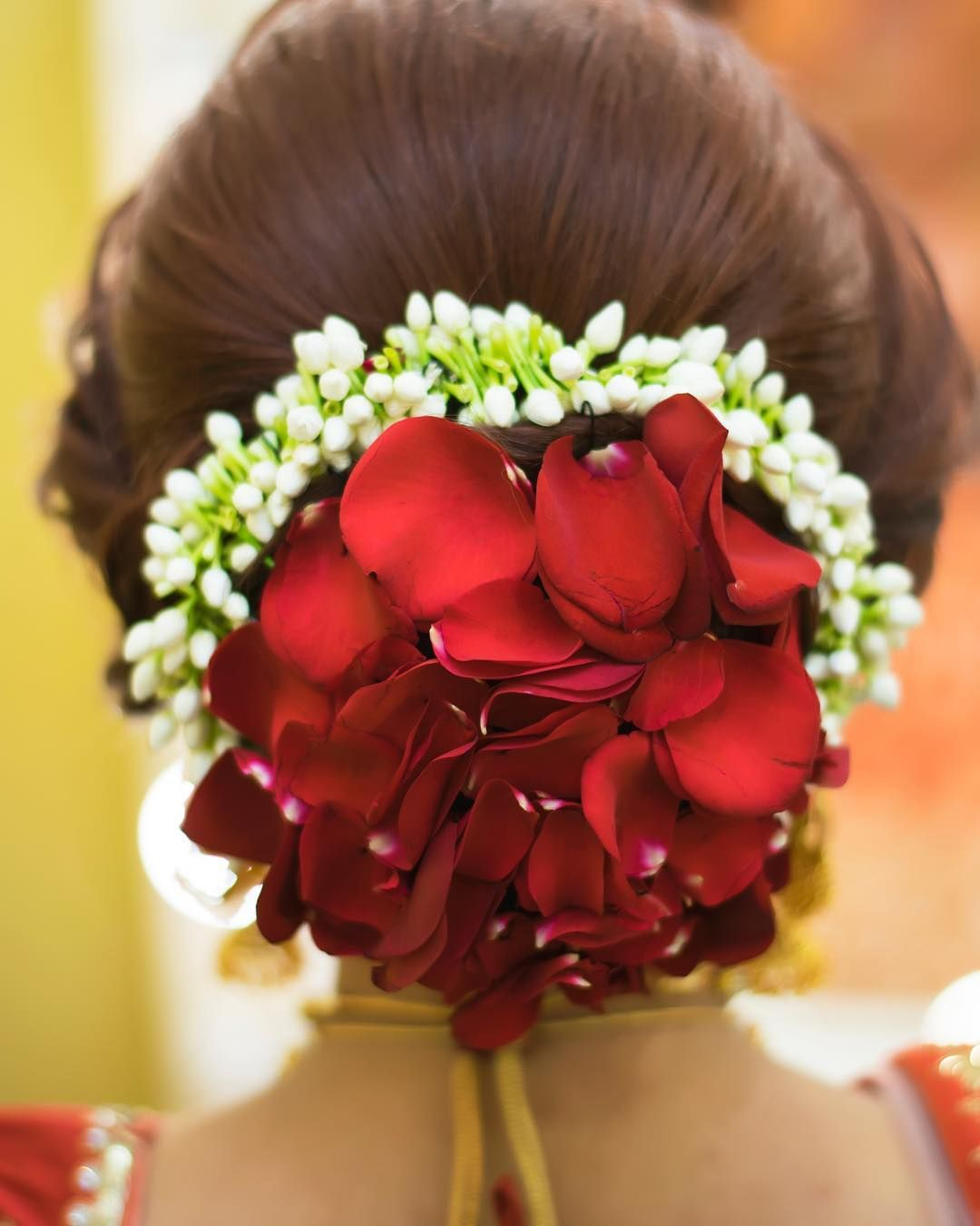 Top 15 Floral Bun Hairstyles for Brides this Wedding Season - K4 Fashion