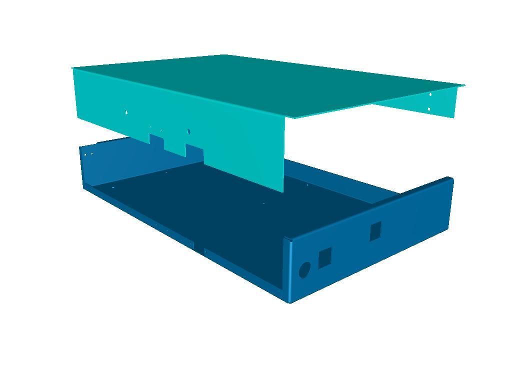 sheet metal chassis base tray and cover httpwwwvandfcouk - Sheet Metal Cover