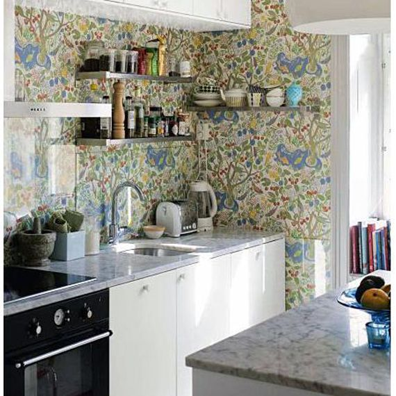Beautiful Kitchen Wallpaper Designs Ideas Part - 4: Space Saving Chic: Tiny Sinks In Tiny Kitchens
