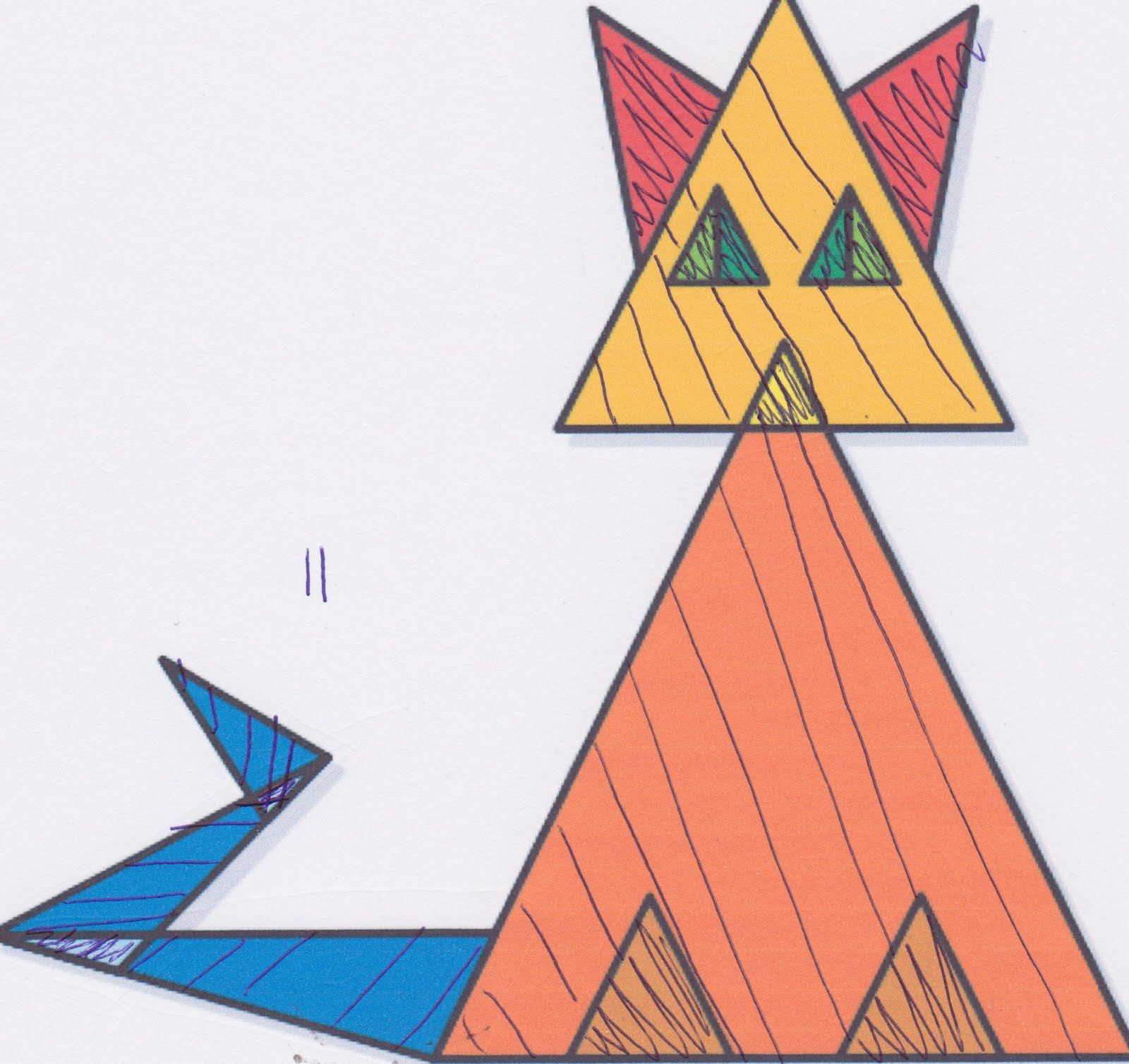 Triangle Cat -- starting point, create own for kids that isn't so scary looking/boring