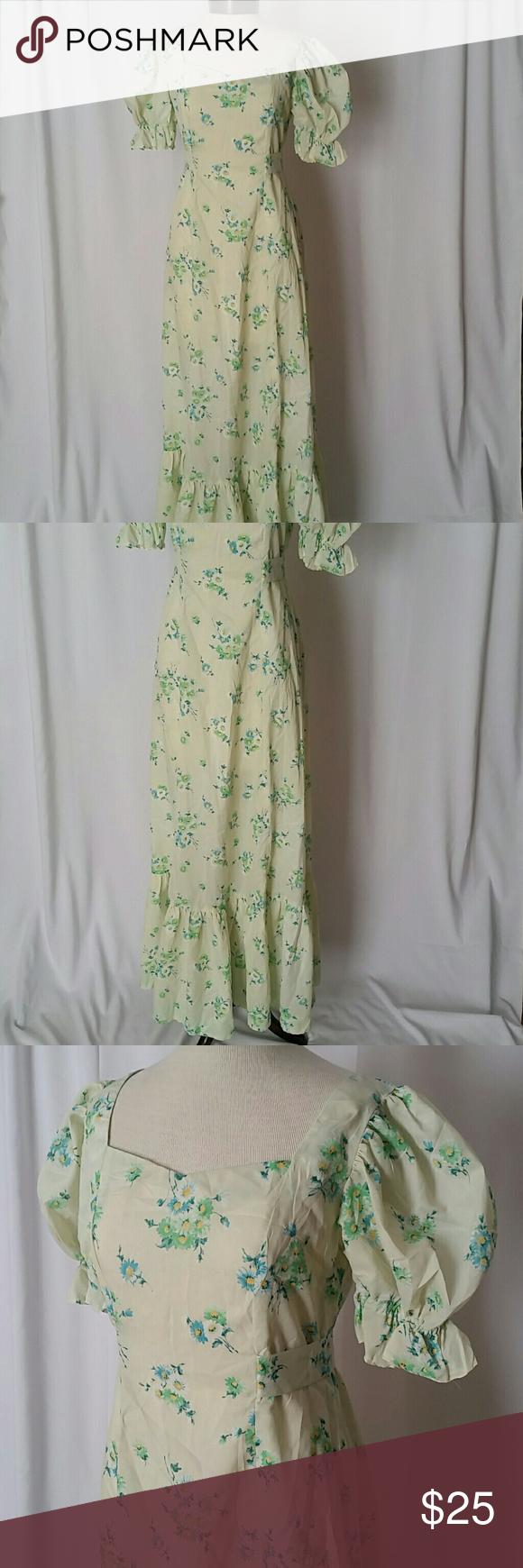 Handmade vintage s floral maxi dress floral maxi dress floral