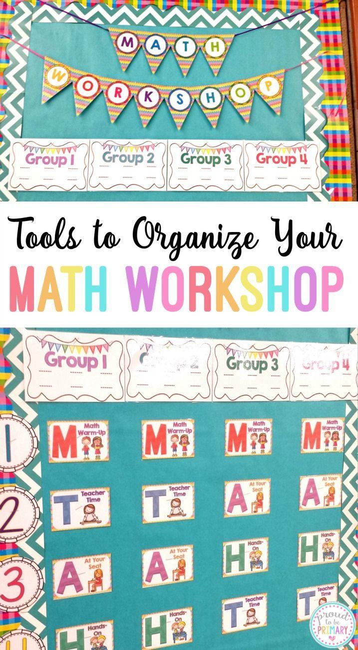 Tools to Organize Your Math Workshop   Pinterest   Math blocks, Math ...