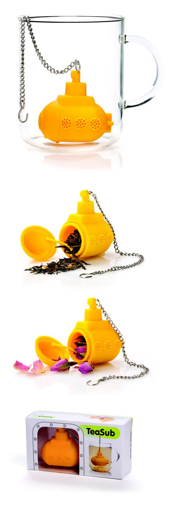 Tea Sub Yellow Submarine Tea Infuser ( http://www.enjoymedia.ch/tea-sub-yellow-submarine-tea-infuser-p-3288.html )