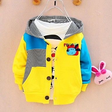 Boy's Cotton Long-Sleeved Cardigans USD $ 10.40