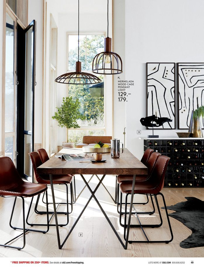 Dining Chairs   Cb2 | Kitchen + Dining | Pinterest | Dining, Cage Pendant  Light And Dining Room