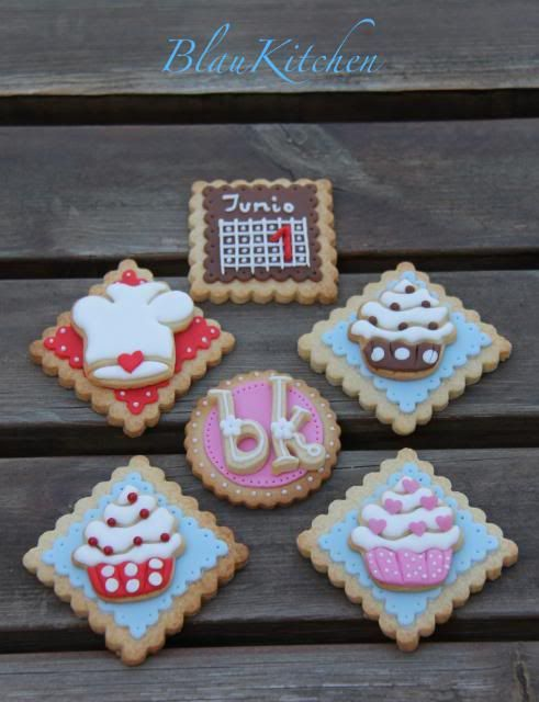 Cupcake Cookies~                       By Blaukitchen, pink, red, Brown, white chef hat, calendar